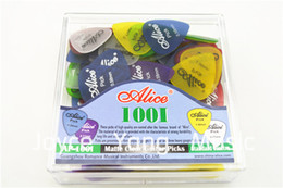 Lots of 100pcs Alice Matte Clear Transparent Acoustic Electric Guitar Picks Plectrums With Original Box Free Shipping