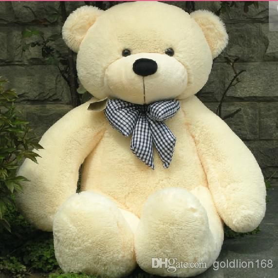 "New Arrival 6 FEET TEDDY BEAR STUFFED LIGHT BROWN GIANT JUMBO 71"" size:180cm fast shipping"