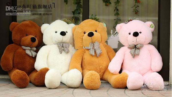 "New Arrival free shipping 6 FEET TEDDY BEAR STUFFED LIGHT BROWN GIANT JUMBO 71"" size:180cm fast shipping"
