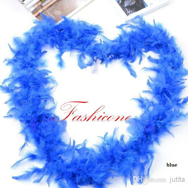 2M 40g Thicken Feather Boa DIY for Party Wedding Festival