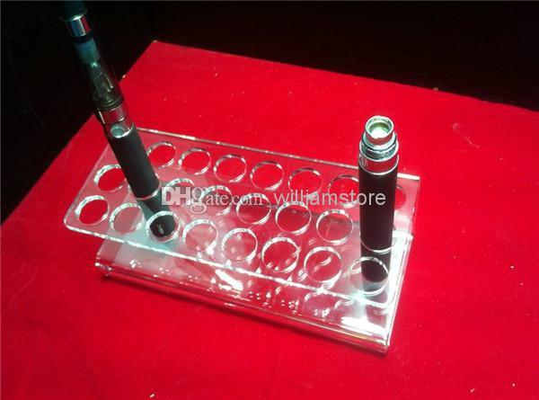 Acrylic e cig display case electronic cigarette stand shelf holder display rack box for 24 e cigarette ego battery ecig ecigs e cig DHL