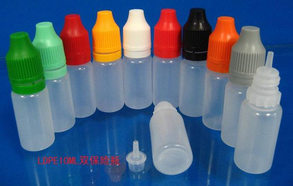 best selling Dropper Bottle 2500PCS 10ml Childproof & Tamper Proof Cap Long Thin Tip plastic bottle used to dispense most liquid