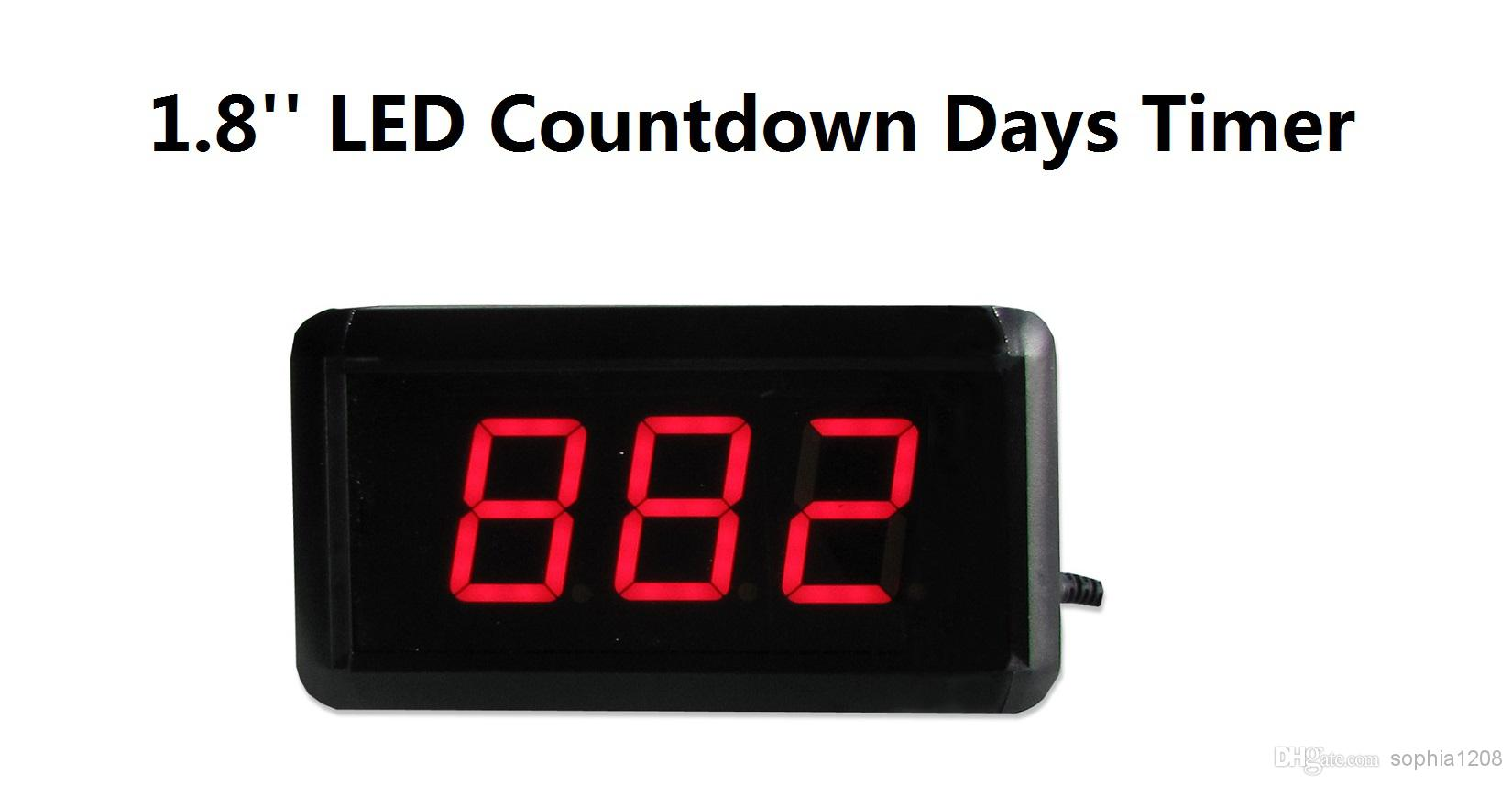 1.8'' High 3 Digits Countdown Count Up Days Led Countdown Timer ...