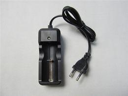 Wholesale Li Ion Battery For Flashlight - 14500 26650 16340 18650 li-ion battery EU charger single charger universal rechargeable battery charger 3.7v for e cig ecig flashlight DHL