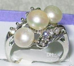 Wholesale Stylish Pearl Rings - Amazing ELEGANT WHITE FW PEARL STYLISH RING