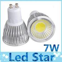 Wholesale mr16 7w - Dimmable 7W COB LED Light Bulbs E27 GU10 60 Degree Angle led Spotlight Warm Natural Cool White 110-240V CE RoHs