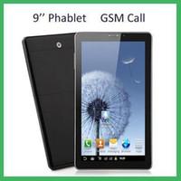 9 inch phablet venda por atacado-Venda por atacado - DHL P2000 9 polegadas Phablet Android 4.2 MTK6572 Dual Núcleo Dual Sim GSM Phone Call GPS Bluetooth WIFI Dual Camera PC Tablet MQ2