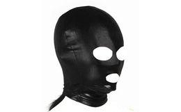 Vente en gros Masque Capuche BDSM Gear Costume Capuche Masque Yeux et Bouche Design ouvert Nouveau Style