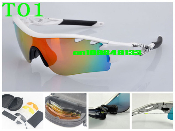 top popular Wholesale -Hot sale Path Polarized Cycling Bicycle Outdoor Sports Sun Glasses Eyewear 5 pairs lens Sunglasses 20 model for choose 2019