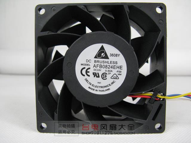 Delta AFB0824EHE 8038 24V 0.5A 8CM dual ball bearing cooling fan