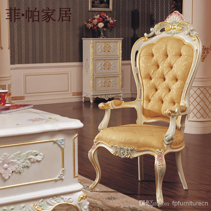 Exceptional Royal Classic European Furniture   Hand Carved Baroque Office Chair Living  Room Classic Furniture European Furniture Baroque Office Chair Online With  ...