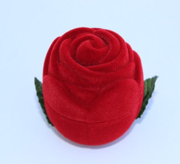 jewelry box,gift box,ring box,red, size :41.5*45.5mm,rose ring box,Valentine's Day gift box sold per ONE PC