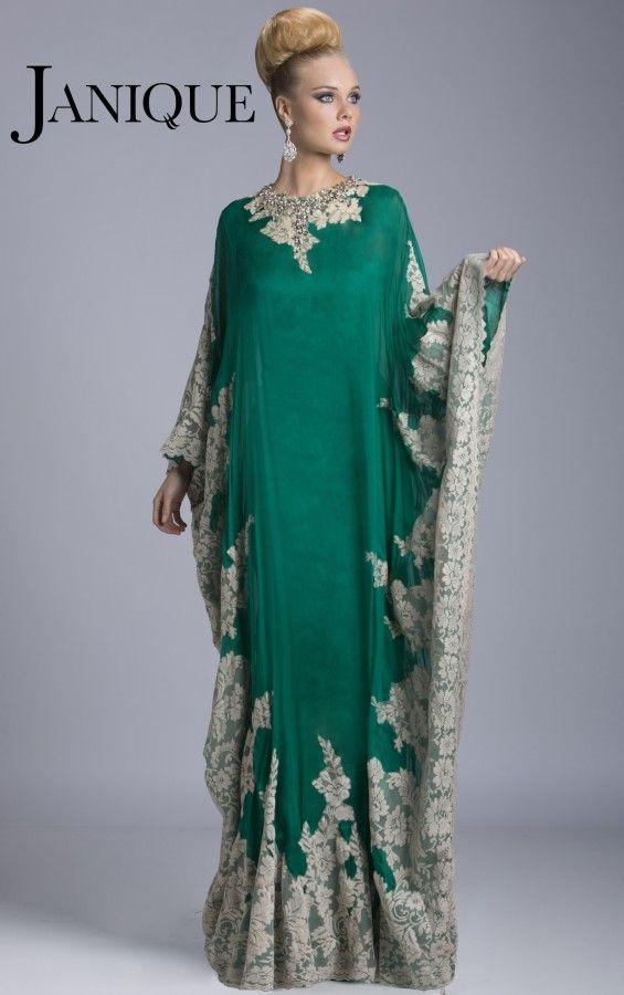 Großhandel Plus Größe Teal Green Dubai Abaya Abendkleider Hohen Hals ...