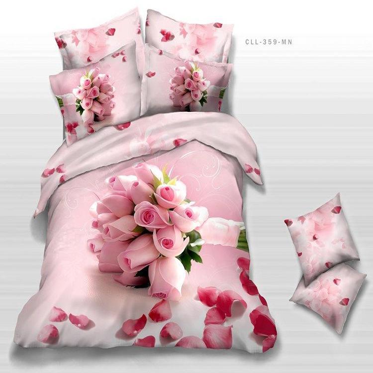 acheter pour ranmantic rose rose filles imprim s 3d literie ensemble literie pur coton tissu. Black Bedroom Furniture Sets. Home Design Ideas