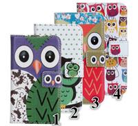 Wholesale Galaxy S4 Mini Owl - Cartoon owl PU Leather Case Wallet Credit Card Money For iPhone 4 4S 5S Samsung Galaxy S2 i9100 S3 i9300 S4 i9500 Mini i8190 I9190