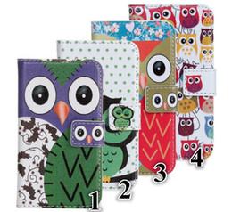Wholesale Galaxy Owl Case Mini - Cartoon owl PU Leather Case Wallet Credit Card Money For iPhone 4 4S 5S Samsung Galaxy S2 i9100 S3 i9300 S4 i9500 Mini i8190 I9190