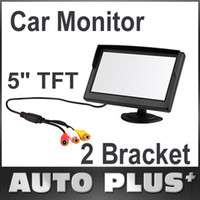"""Wholesale Auto Dvd Monitor - 5"""" Digital Color TFT 16:9 LCD Car Reverse Auto Monitor 2 Bracket Holder for Rearview Camera DVD VCR Multi-language Russian K917"""