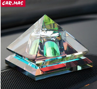 Wholesale Scented For Cars - 5ml Mystical Pyramid Glass Perfume Bottle Scent Bottles for Car Interior Accessories ZH0209