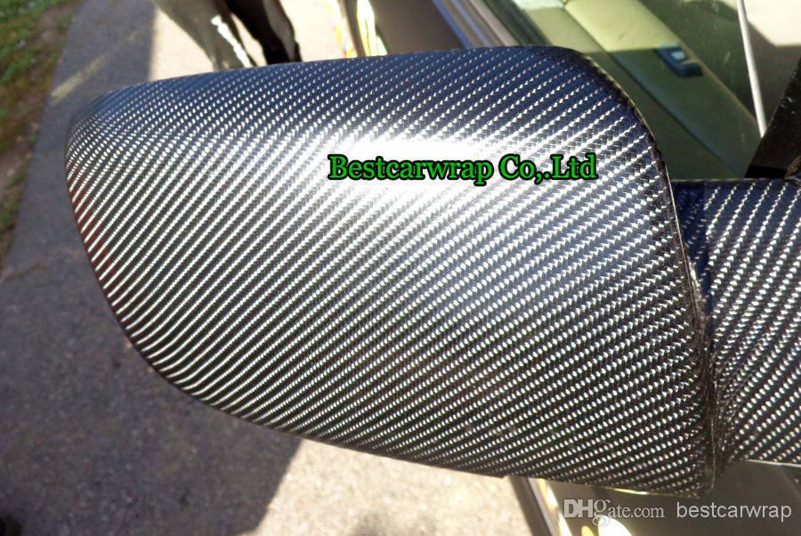 空気の泡のための高品質の黒い4dの炭素繊維のビニールのための腕のための包み空き泡サイズ1.52x30m 4.98x98ft送料無料