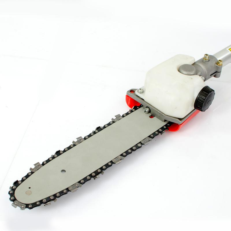 2019 New Model,9 teeth shaft,26mm tube -pole chain saw attachment with chain guide bar for multi brush cutter