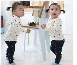 Wholesale Classic Baby Clothes Sets - Children's Outfits Baby Clothing Sets Baby suit sleeved sports and leisure suits baby pajamas set kids' clothes