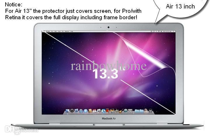 High Clear Screen Protector Protective Pet Film Guard for MacBook Air Pro Retina 12 13 15 tum dammtäker Anti-Scratch Retail Box