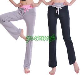 2019 chaleco anaranjado para mujer Pantalones de yoga YOGA Fitness Workout Pantalones de baile de yoga Mujer Precio al por menor