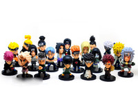 Wholesale Naruto Figures Set - Cartoon Anime Naruto 5cm 21pcs set PVC Collectable Figure Model Toys Doll Gifts for kids