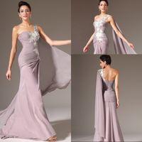 Kleid lang one shoulder