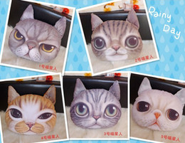 Wholesale Wholesale Animal Purses For Children - Boutique Cute 3D cat cathead purse meow star people coin key bag cats cartoon animal handbag wallets holders cards bags gift for children