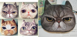 Wholesale Tie Dye Fabrics Wholesale - New Boutique Cute 3D cat cathead purse meow star people coin key bag cats cartoon animal handbag soft plush wallets holders cards bags