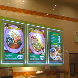 Wholesale Wholesale Frame Signs - Acrylic frame Slim Led Light Signs A4 size