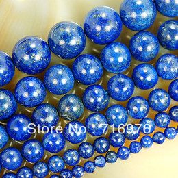 Free shipping 4mm 6mm 8mm 10mm 12mm 14mm Natural Lapis Lazuli Beads 15.5'' jewelry making,DIY on Sale