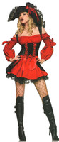 Wholesale Wear Costume Sex - Sex Dresses Red Pirate Costume Sexy Fashion New 2015 Halloween Costumes for Women Role Play Cub Wear Shows Lady Hot Sales