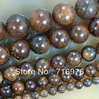 "Wholesale 6mm round gemstone beads - 4mm 6mm 8mm 10mm 12mm Natural Bronzite Round Gemstone Beads 15.5"" Pick Size Free Shipping"