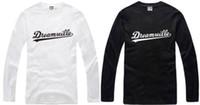 serbest boyut tişörtü toptan satış-Ücretsiz kargo pamuk tshirt marka uzun kollu t-shirt J. Colte tişörtlü Dreamville tee% 100% pamuk 6 renk çince boyutu: S-XXXL