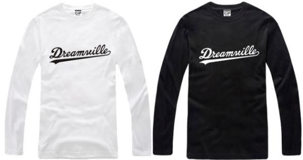trasporto di marca del cotone degli manica lunga maglietta J.COLE maglietta Dreamville maglietta 100% cotone 6 colori formato cinese: S-XXXL