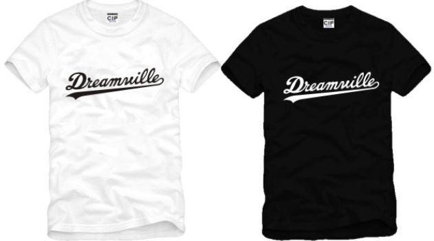 Ücretsiz nakliye yüksek kaliteli pamuk tee yeni satış DREAMVILLE J COLE LOGO baskılı t shirt hip hop tişörtlerin% 100 pamuk 6 renk
