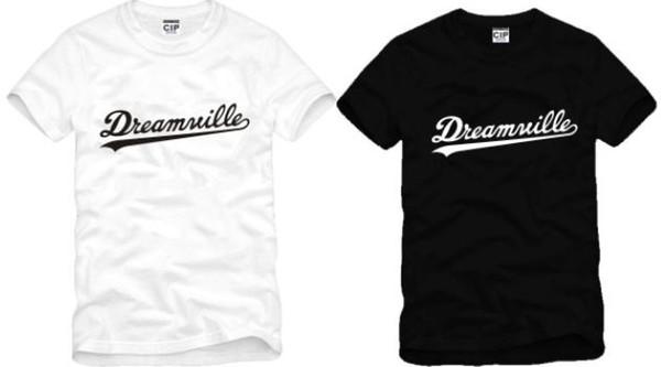 O envio gratuito de alta qualidade de algodão tee nova venda DREAMVILLE J COLE LOGOTIPO impresso camiseta hip hop camisetas 100% algodão 6 cor