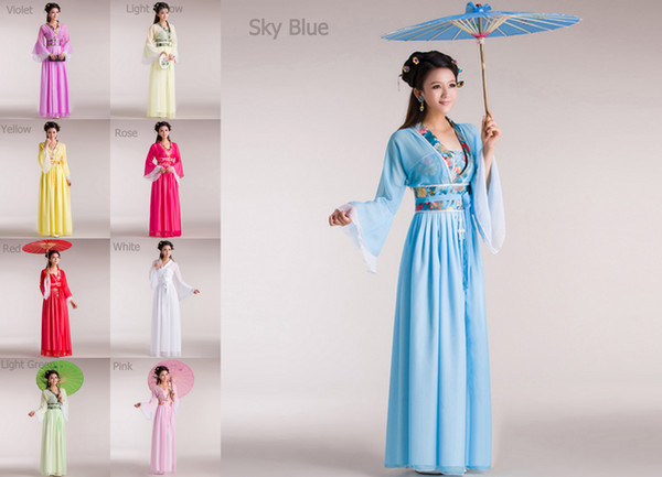 Gui Fei fées et vêtements costume tang hanfu costume demoiselle d'honneur vêtements jupe en mousseline de soie robe