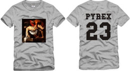 Wholesale Pyrex Vision 23 - Free shipping Chinese Size S--XXXL Cotton t-shirt Pyrex23 tee pyrex vision cylincler kanyegd 23 hiphop short-sleeve tee 100% cotton 6 color