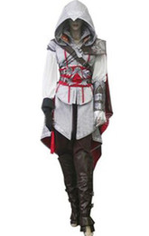 Ezio cosplay online-Regalo di Hallowmas Assassin's Creed II 2 3 Costume cosplay Ezio White Luxury Version Qualsiasi dimensione