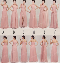 Wholesale Mixed Order Bridesmaid Dress Coral - Custom Made 2014 Real Photos Bridesmaid Dresses Chiffon Long Skin Party Prom Gowns For Maid of Honor Mix Order BO0320