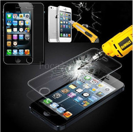 iphone 5s screen protector stickers NZ - 0.33mm Slim 2.95D Arc Edge 8-9H Top Sticker Tempered Glass Explosion Shatter Proof Screen Protector Film For iPhone 5 5S 5C iPhone 4 4S