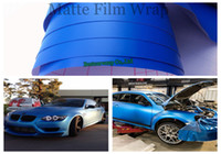 Wholesale car mats free shipping - 3m quality Deep Blue Matte vinyl film mat Foile Car Body vinyl wrapping with bubble free 1.52x30m Roll Free Shipping