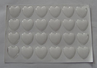 "Wholesale Glass Domes For Crafts - 1"" 25mm heart epoxy stickers clear epoxy dots resins epoxy dome for arts and crafts"