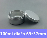 Wholesale Tea Tin Can Box - Free Shipping 100pcs lot 100ml Round Tin Container Vintage Tea Mint Tins Hinged Tin Box 100g Auminum Can Candle Tins