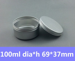 Wholesale Candles Containers - Free Shipping 100pcs lot 100ml Round Tin Container Vintage Tea Mint Tins Hinged Tin Box 100g Auminum Can Candle Tins