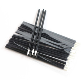 Wholesale Disposable Eyeliner Applicators - Professional 100pcs lot One-off Eyeliner Brush Disposable Eyeliner Applicator Wands Eyes Makeup Tool