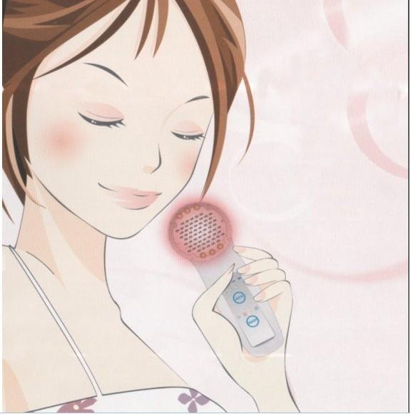 DIY Mini MicroCurrent LED Blau Rot Gelb Licht Bio Haut Verjüngung Maschine Home Verwendung Therapie Gesichtspflegegerät